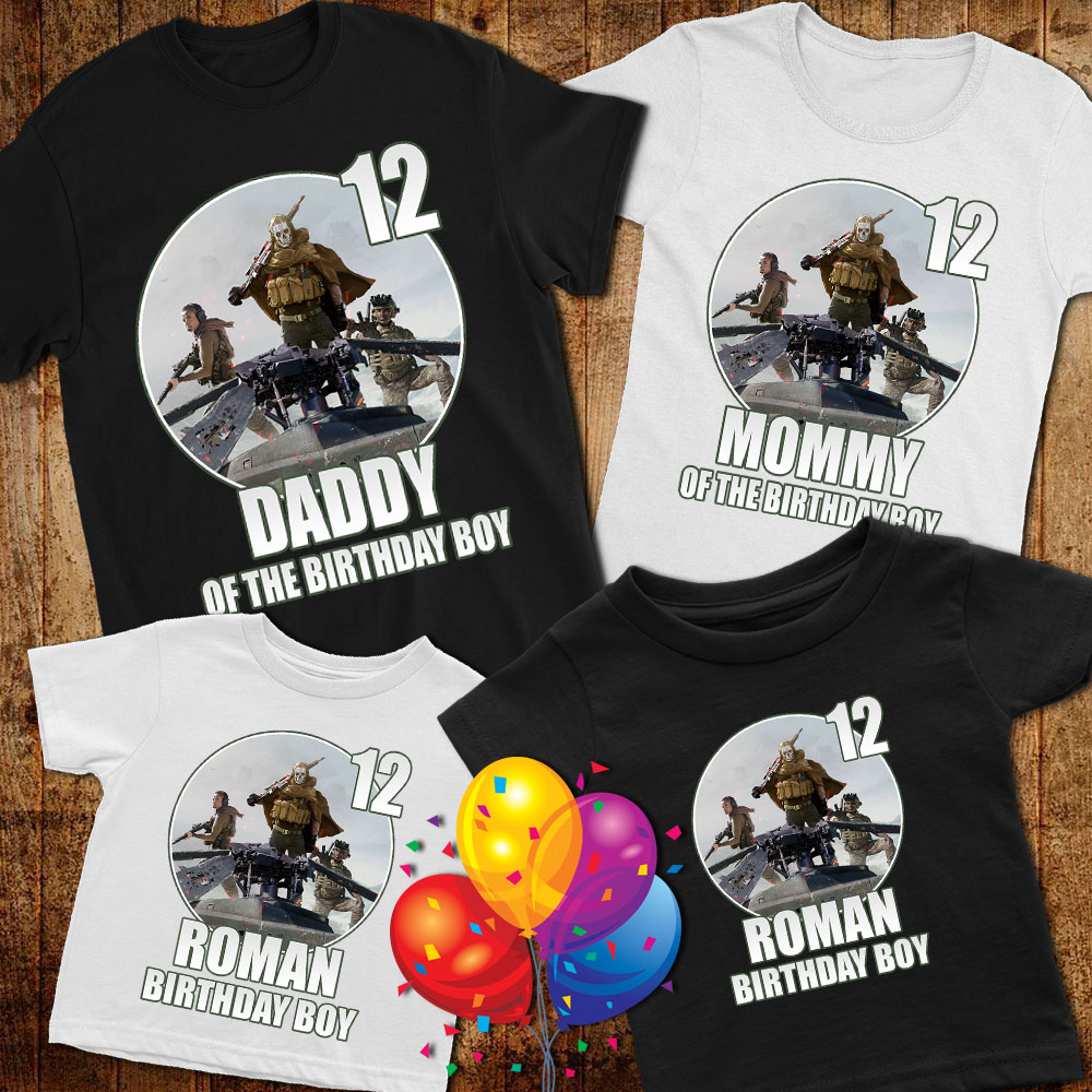 Call of Duty: Warzone Personalized Name Age Custom Birthday