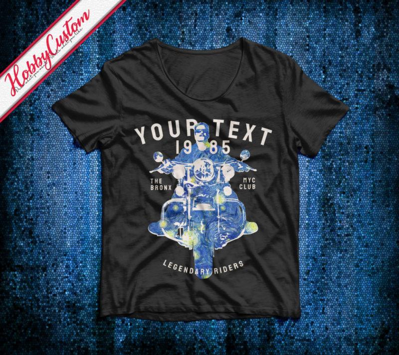 Legendary Riders The Starry Night Van Gogh Style Customize T-shirt