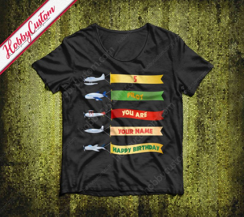 Airplane performance happy birthday to you customize t-shirt