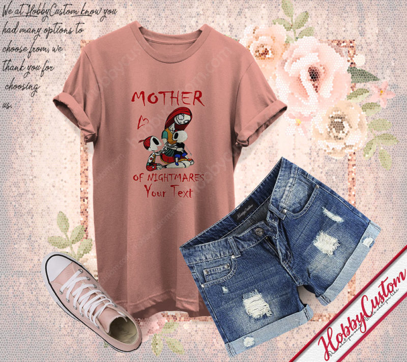 Jack skellington gift mother's day for mother of nightmares customize t-shirt