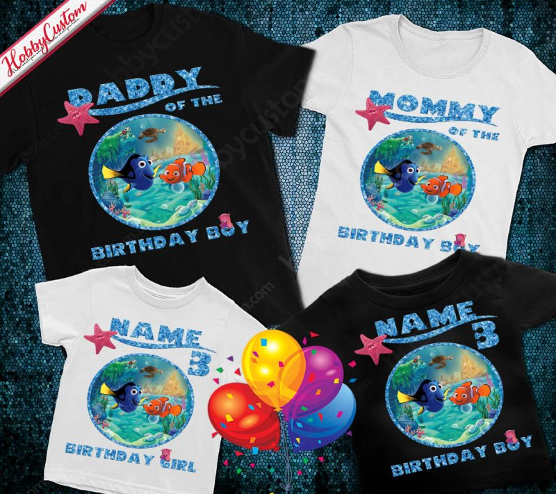Finding nemo personalized name age custom birthday