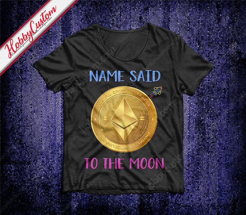 Ethereum coin to the moon customize t-shirt