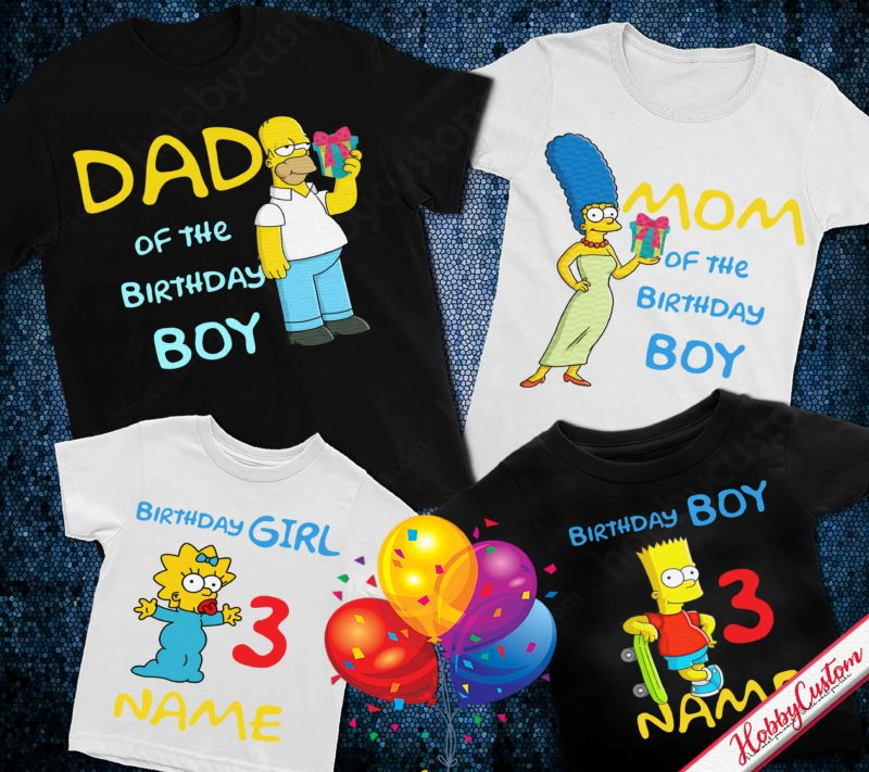 The simpson personalized name age custom birthday