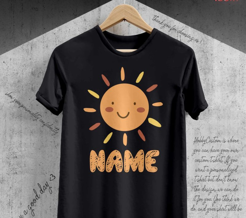 Yellow orange sun cute back to school customize t-shirt