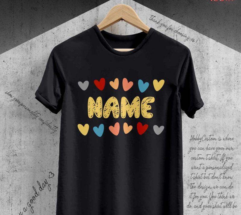 Multicolored hearts in harmony back to school customize t-shirt